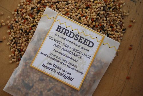 DIY birdseed packets 1