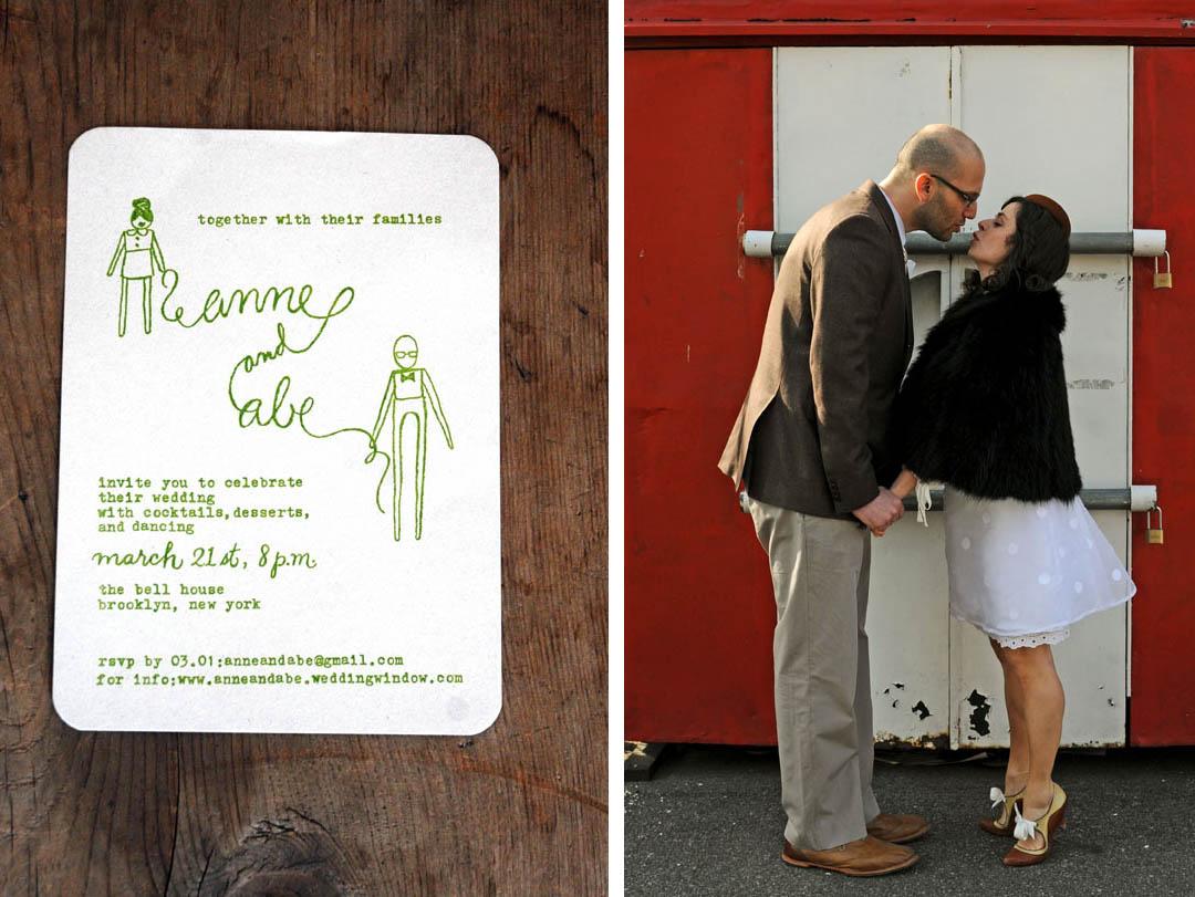 Real wedding: Anne + Abe - Brooklyn Bride - Modern Wedding Blog