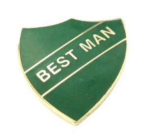 school badge - best man