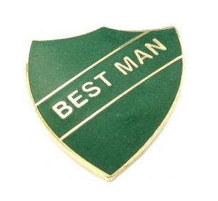 school badge - best man