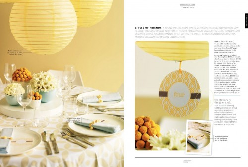 wedding style guide yellow and blue
