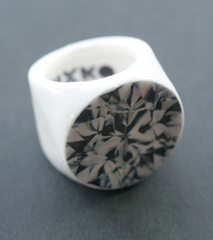 porcelain engagement ring