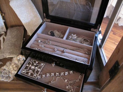 gabriella bridal salon vintage jewelry display