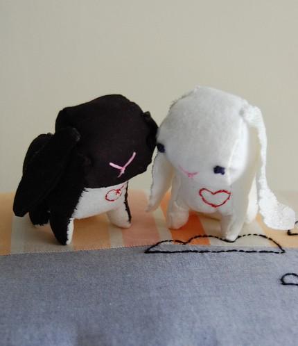 sian keegan love bunny cake topper