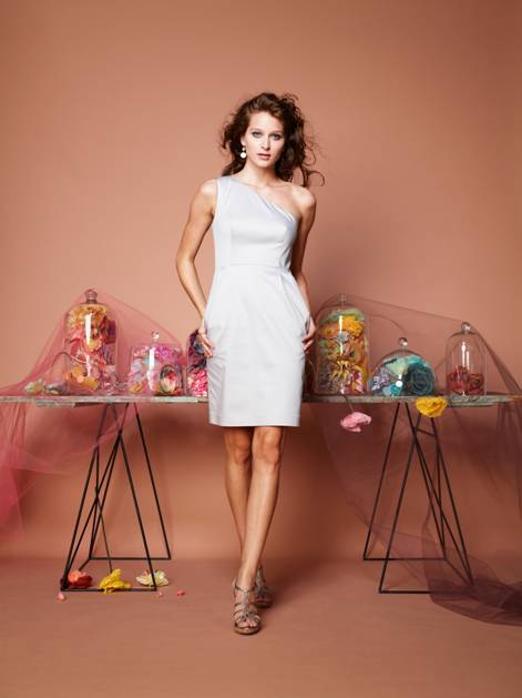 one shoulder white dress for a wedding