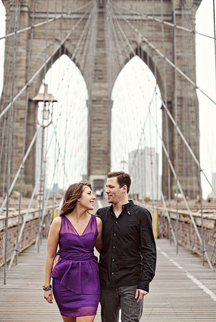 brooklyn bridge engagement shoot