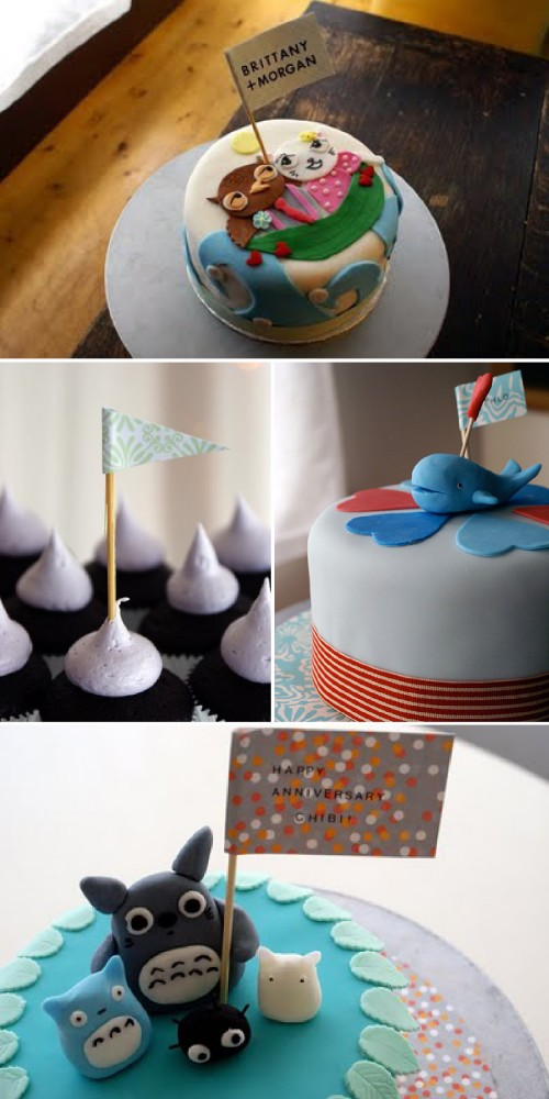modern wedding cakes and cupcakes