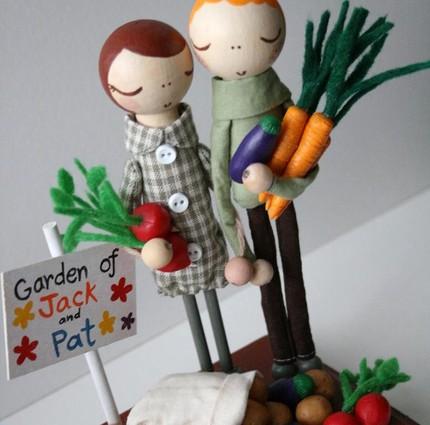 gardening theme caketopper