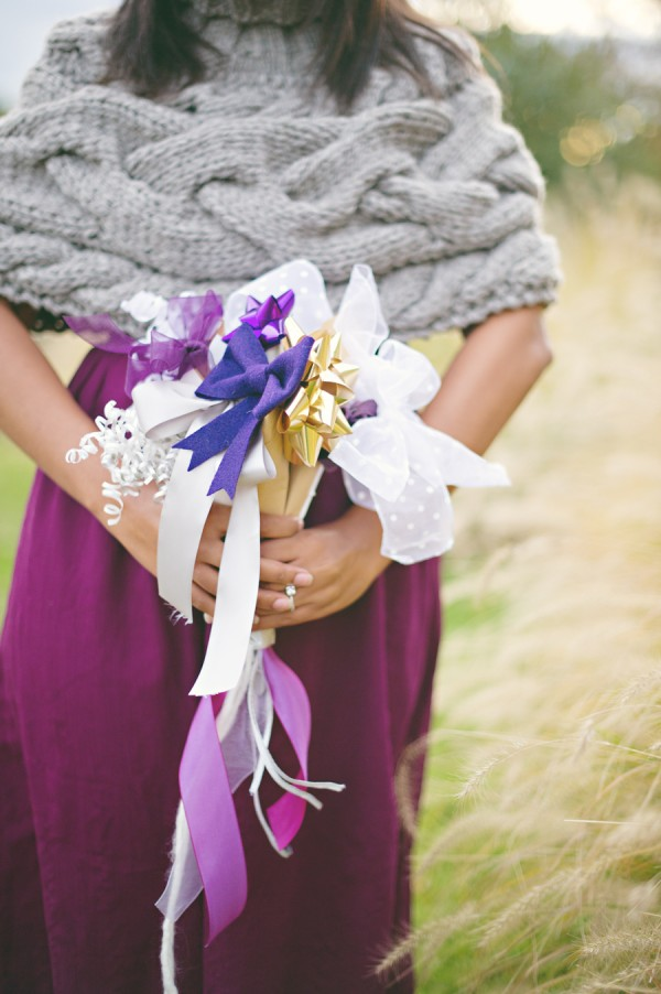 DIY ribbon bouquet