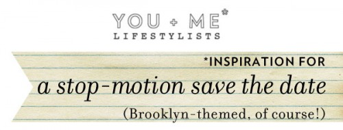 Stop-motion save the date inspiration 1