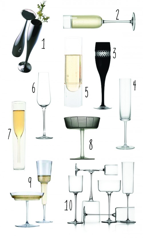 Top 10: Modern champagne glasses 1