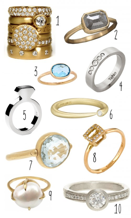 Top 10: Modern engagement rings 1