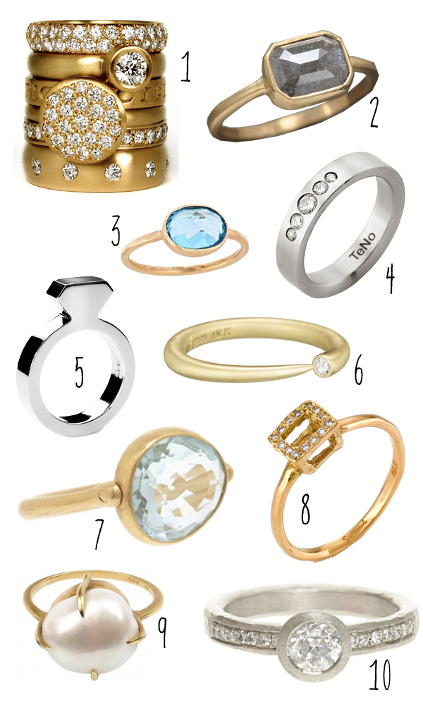Top 10 modern engagement rings brooklyn bride modern wedding blog