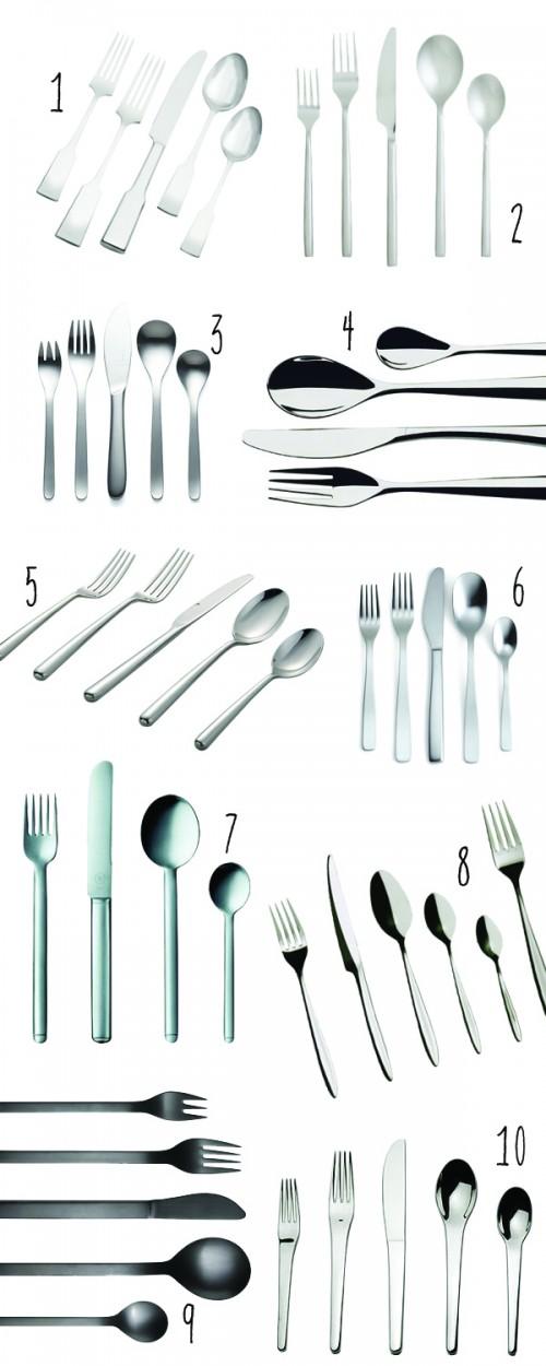 Top 10: Modern flatware 1