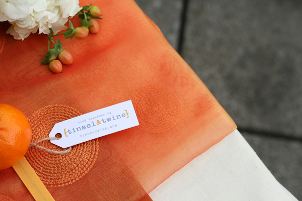Tablescape challenge: Orange inspired sweetheart table 3