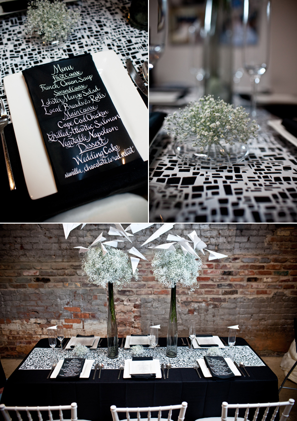 Tablescape Challenge Modern Black And White Brooklyn