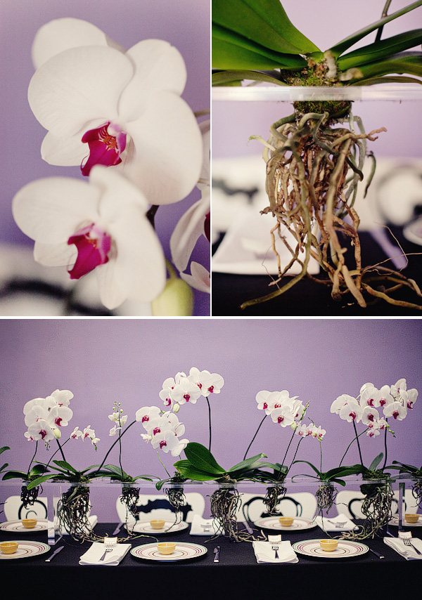 Modern orchid tablescape 1