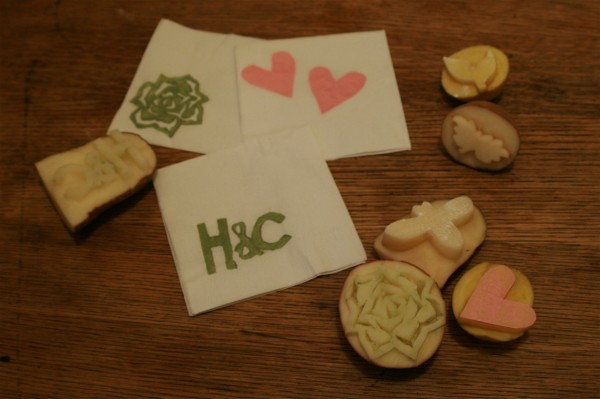 Hens & Chicks: Potato stamping DIY 15