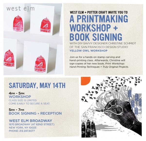 Print Workshop at West Elm + giveaway! 1