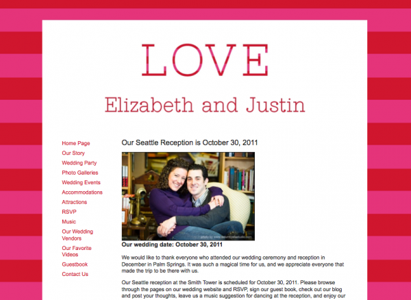 Wedding websites from MyWedding & Paper+Cup Design 8