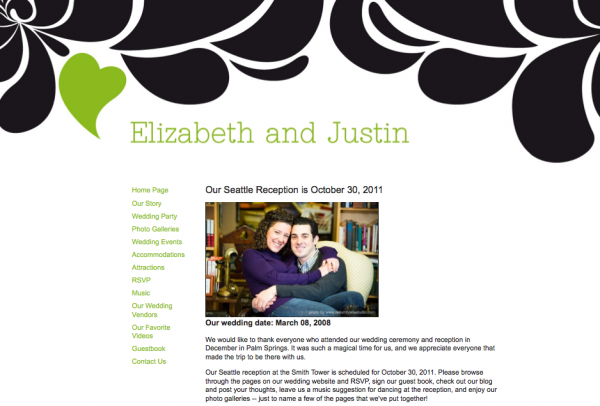 Wedding websites from MyWedding & Paper+Cup Design 6