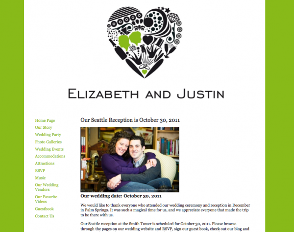 Wedding websites from MyWedding & Paper+Cup Design 5
