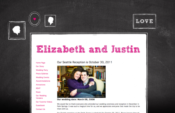 Wedding websites from MyWedding & Paper+Cup Design 4