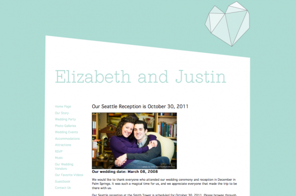 Wedding websites from MyWedding & Paper+Cup Design 3