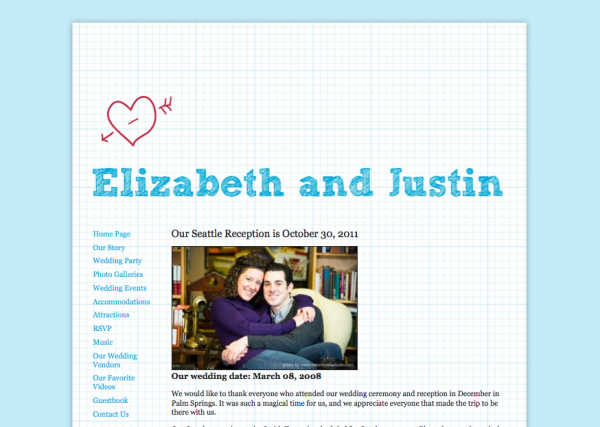 Wedding websites from MyWedding & Paper+Cup Design 2