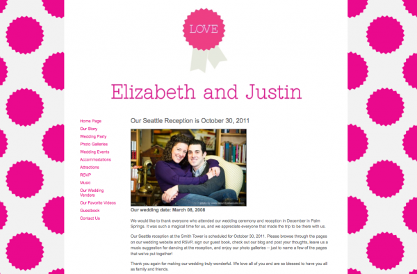 Wedding websites from MyWedding & Paper+Cup Design 1