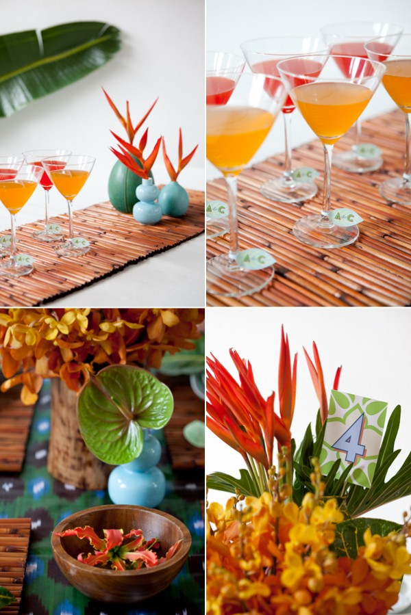 The New Modern: Tropical rehearsal dinner 2