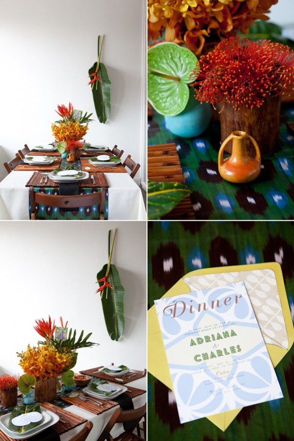 The New Modern: Tropical rehearsal dinner 1