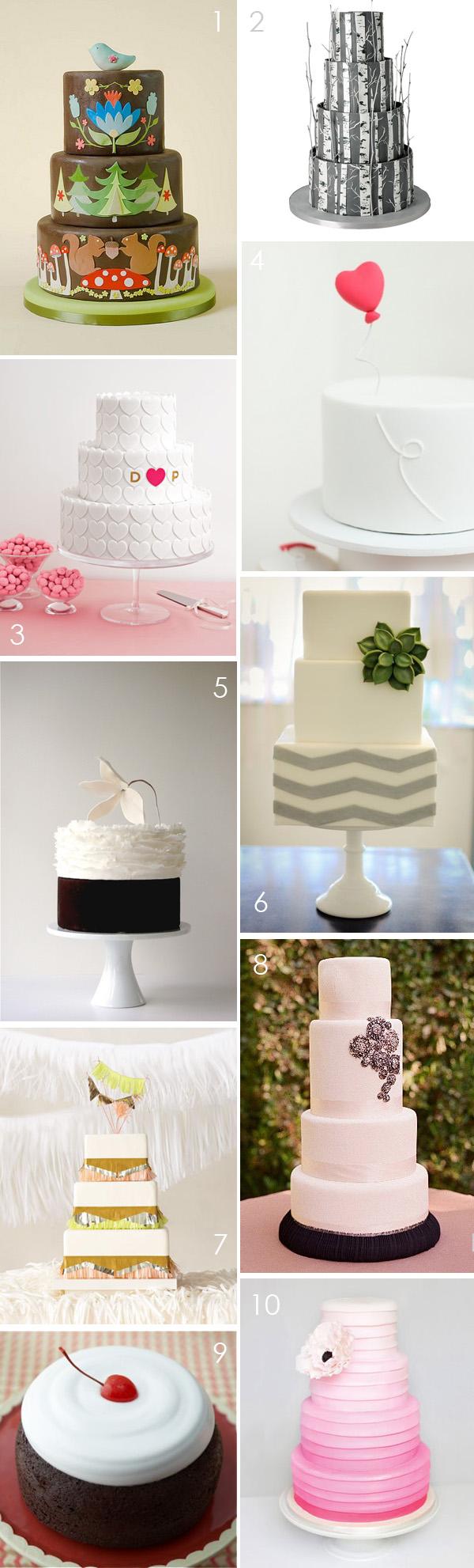 Top 10: Modern wedding cakes | 2 - Brooklyn Bride - Modern Wedding Blog