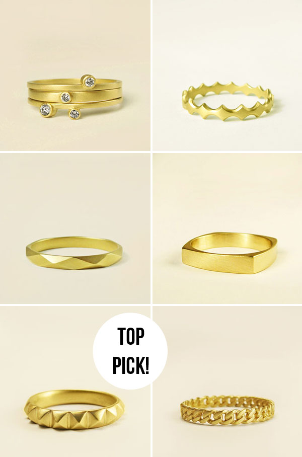 Modern Wedding Bands From Carla Caruso