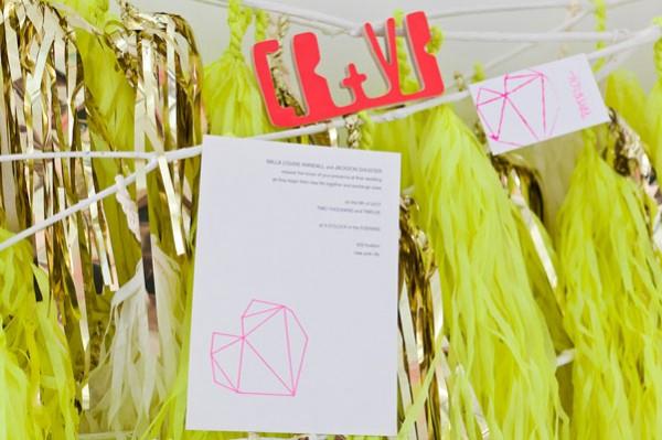 Neon wedding inspiration: Decor 4