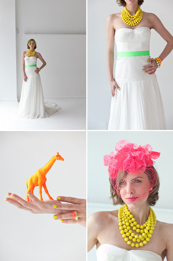Neon wedding inspiration: Fashion 11