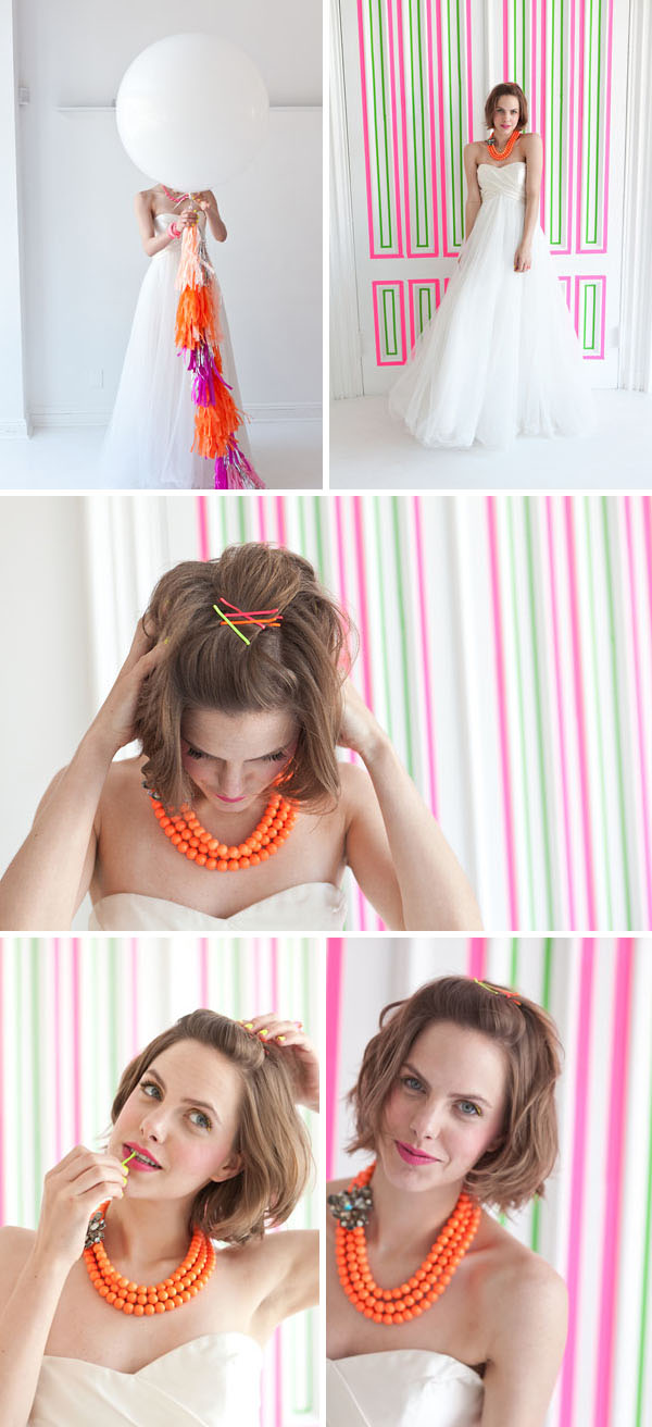 Neon wedding inspiration: Fashion 12