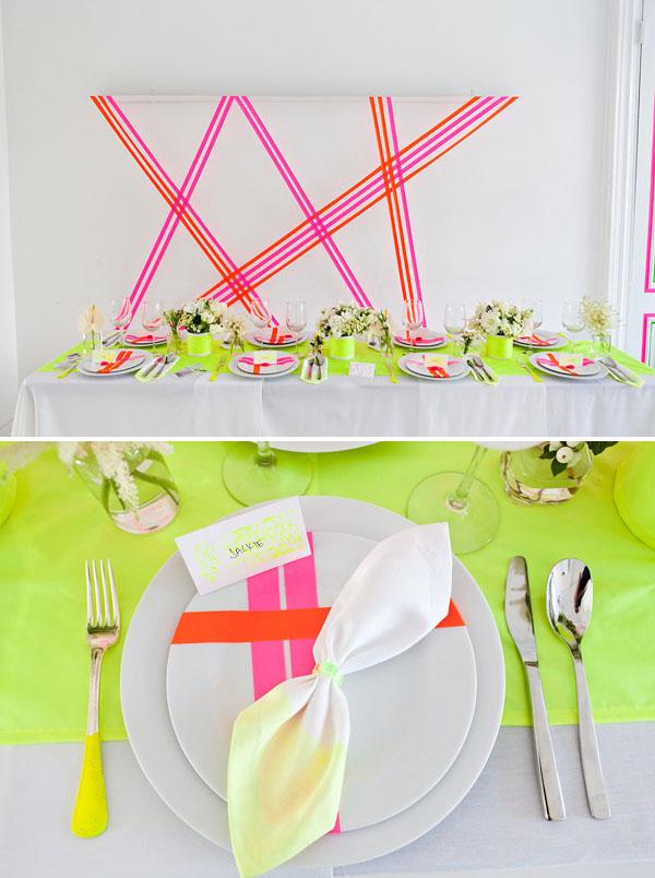 Neon wedding inspiration: Decor 2