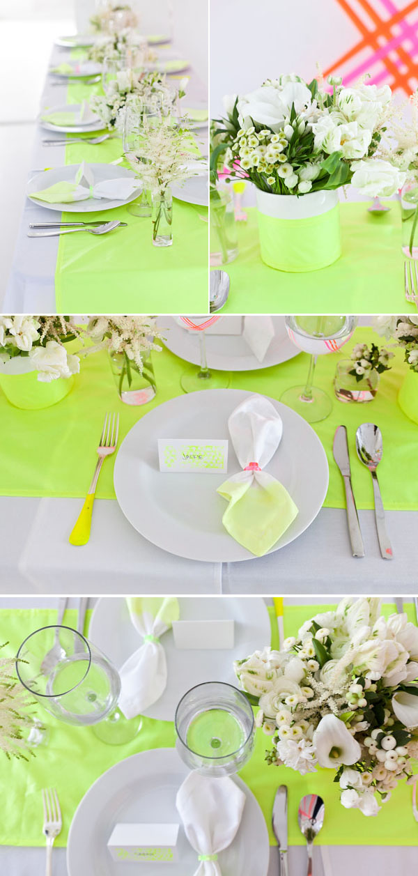 Neon wedding inspiration: Decor 1