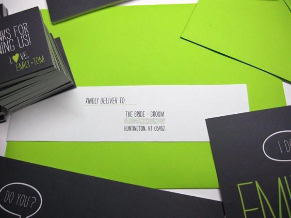 Green and black invitations 4