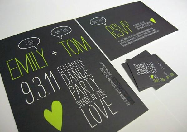 Green and black invitations 2