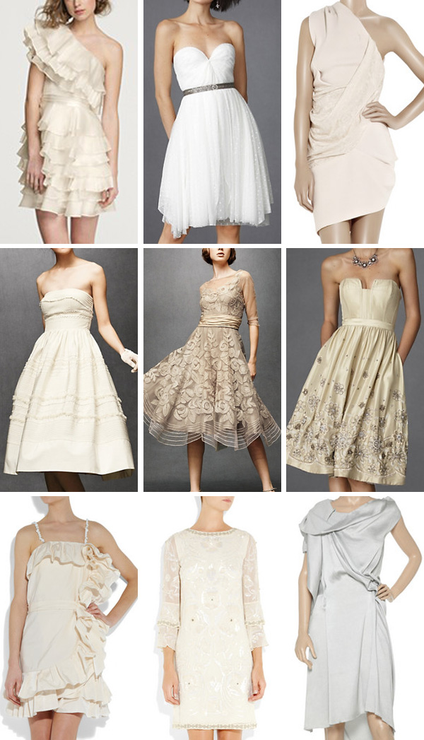 Phi-Style: Short Wedding Gowns - Brooklyn Bride - Modern Wedding Blog
