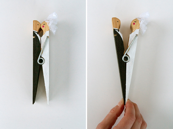 DIY: Kissing clothespin cake topper 5