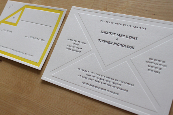 New invitations from Moontree Letterpress 2