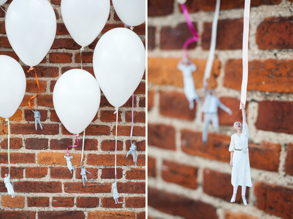 DIY: Flying wedding couple balloons 7