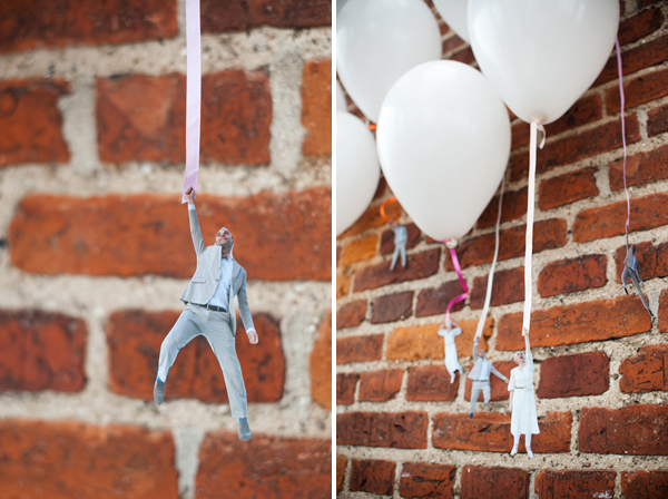 DIY: Flying wedding couple balloons 6