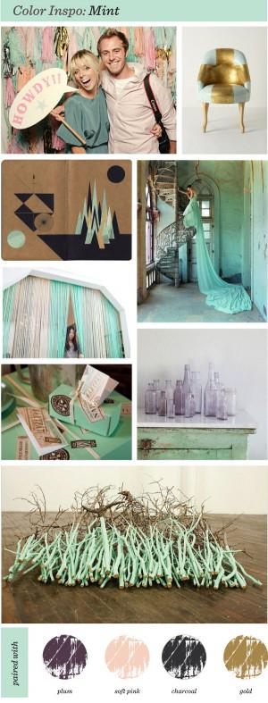 """Color Inspiration"" Charcoal Mint Pink ""Tim Walker"" ""Pearl River"""