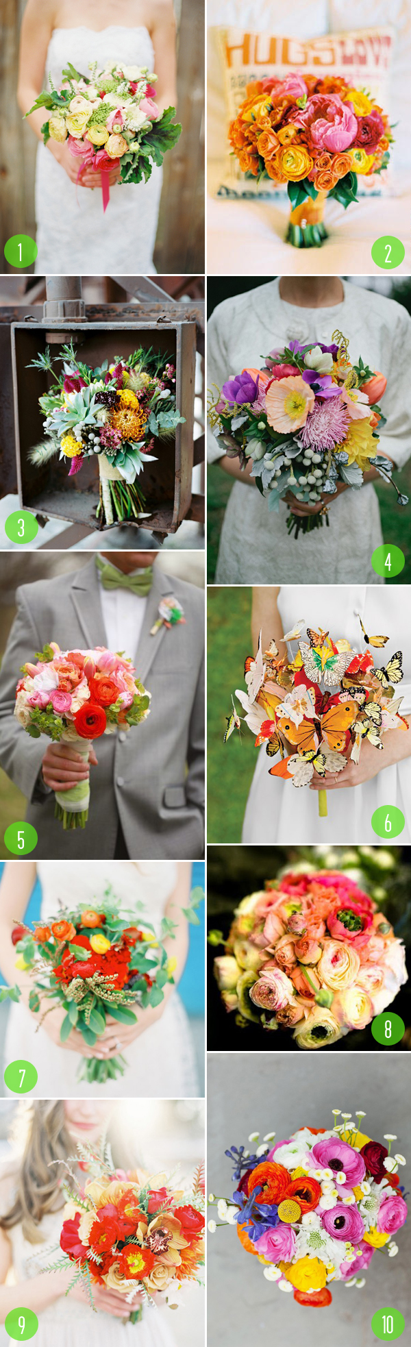 Top 10: Colorful bouquets 1