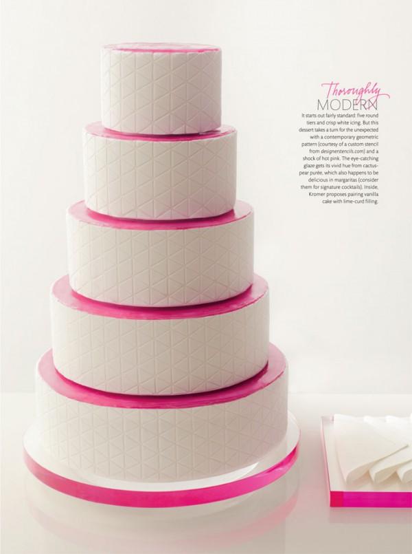 Modern neon wedding cake