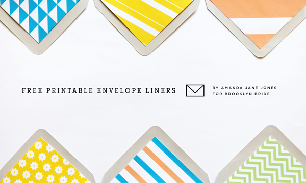 Printables: DIY envelope liners 1